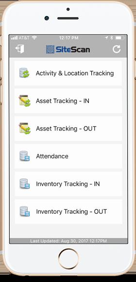 sitescan app on an iphone